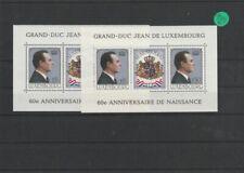 Luxemburg    postfrisch  2x MiNr. Block 13