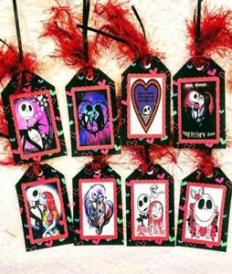 Set of 8 Hang Tags~Valentines Day~Nightmare Before Christmas Jack~Gift Tag~#297R