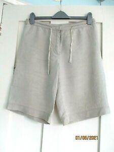 Hobbs size 10 beige linen shorts