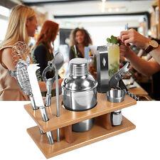 8 tlg Edelstahl Cocktailset 350ml Cocktail Shaker Bar Set + Zubehör Mixer GD Top