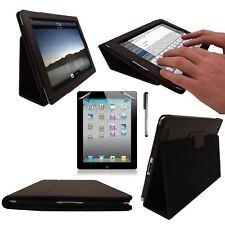 ORIGINALE Inventcase Nero 2 volte in pelle Folio Case Stylus Penna per iPad 2/3/4