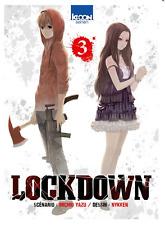 manga Lockdown Tome 3 Seinen Michio Yazu Nykken Suspense Thriller Ki-Oon !  VF