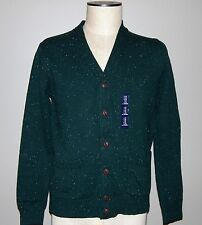 NEW GAP MEN'S CASUAL SWEATER SIZE M CARDIGAN BUTTON HOLIDAYS GIFT SOFT GREEN