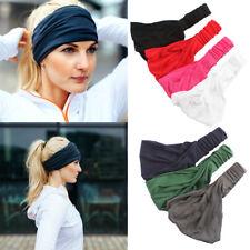 Women Elastic Stretch Solid Wide Hairband Yoga Headband Turban Sport Head Wrap
