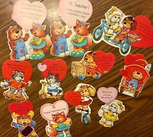 Vintage The Get Along Gang Valentine Cards 39 Lot Montgomery Moose Woolma Lamb