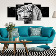 Set of 5 Animal Tiger Canvas Print Home Decor Wall Art Painting Picture Unframed