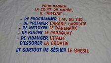 Tee-shirt B&C Coupe du Monde 1998 Et un,et deux et trois T XL