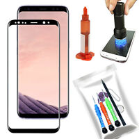OEM Replacement Front Glass Screen UV Repair Kit For Samsung Galaxy S8+ Plus