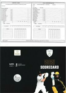 Unused Cricket Scorecard – Hampshire v Essex – One Day Cup – 22nd July 2021