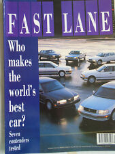 Fast Lane Dec 1989 Mazda RX7 Turbo II, BMW 320iS