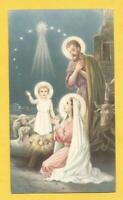 🎄 💖 IMAGE PIEUSE HOLY CARD NOEL ETOILE CRECHE BOEUF ANE JOSEPH  BOUASSE  💖 🎄