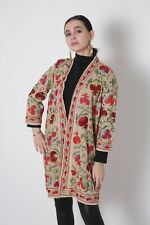 Multicolor Vintage Uzbek Hand Embroidery Suzani Robe Chapan Jacket SALE WAS $210