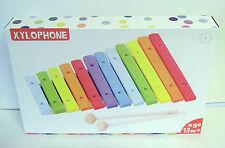 Les enfants / enfants -- coloré en bois xylophone instrument de musique c / w bâtons