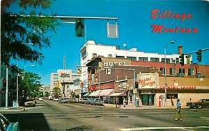 Postcard North Broadway Street Scene, Billings, Montana - circa 1970