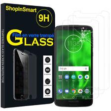 """3X Verre de Protection pour Motorola Moto G6 5.7 """" Verre Véritable"""