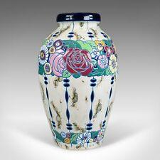 Large Baluster Vase, Czechoslovakian Amphora Pottery, Mid 20th Century