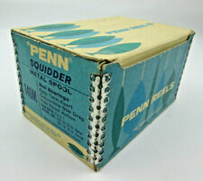 Box Only Penn Reels Squidder 140M Blue and White Box with Metal Tape on Corners