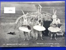 Postcard South Africa Real Photograph Abakwethas at their own Hut