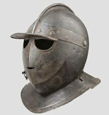 Collectible Medieval Knight Armor Antique European Closed Helmet Larp Replica