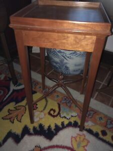 Cherry Chippendale Side Drink Table