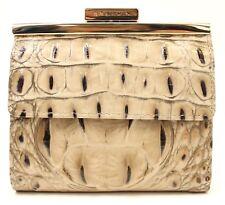 Brahmin Tasha Kisslock Wallet in Taupe Croco Leather