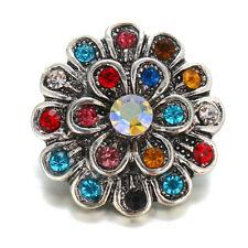 10pcs Crystal Alloy Charm Ginger Snap Button For Noosa Necklace/Bracelet N803