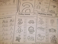 290 Printed Alphabet Worksheets.  Preschool, Kindergarten, Pre-K, Daycare teachi