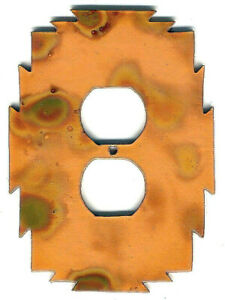 """COPPERCUTTS Heat Treated Copper Outlet Cover 4.25"""" x 6"""" SouthWest Rustic Style"""