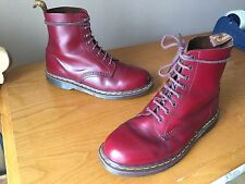 Dr Martens 1460 oxblood leather boots UK 10 EU 45 skin punk ENGLAND red cherry