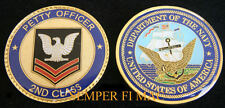 2ND CLASS PETTY OFFICER US NAVY CHALLENGE COIN PO2 PIN UP GIFT PROMOTION USS!
