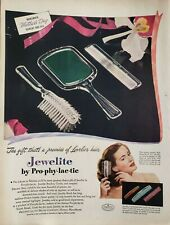 LOT Vintage 1948 Prophylactic Brush and Combs Print Ad Jewelite
