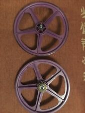 Genuine Skyway tuff 2 wheels Purple Front And Rear With Freewheel Attached, Rare
