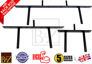Floating Shelf Brackets Heavy Duty Long Concealed Invisible Hidden with Back Rod