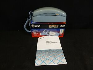 AT&T TRIMLINE 230 MEMORY TELEPHONE IN BOX W/ MANUAL