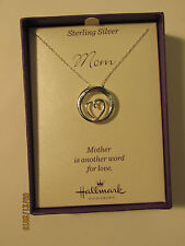 "Hallmark Sterling Silver Pendant  ""Mother is another word for Love""-NIB our 2096"