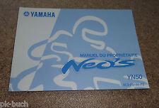 Manuel Du Proprietaire Yamaha YN 50 Roller Neos Stand 03/2007