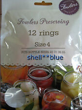Fowlers Vacola  Preserving Rings size 4  BRAND NEW