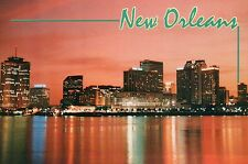 New Orleans Skyline at Sunset, Louisiana, Mississippi River, Hotels + - Postcard