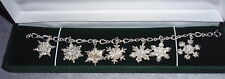 Gorham Solid Sterling Snowflake Christmas Charm Bracelet 1970~1976