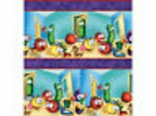 QT Veggie Tales  Helping Hands 21206-V Stripe Cotton Fabric BTY FREE US SHIPPING