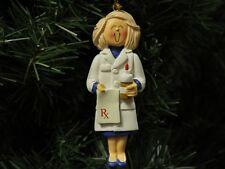 Female Pharmacist Christmas Ornament, Blonde Hair