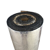 1Roll Car Sound Proofing Deadening Insulation Heat 10mm Glass Fibre 50X100cm AB