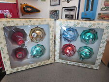 LOT OF VINTAGE CHRISTMAS BULBS HAND CRAFTED IN WEST GERMANY GLASS AND PLASIC