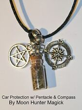 Safe Travels Car Protection Witch Bottle Charm Pagan Rear View Mirror Charm