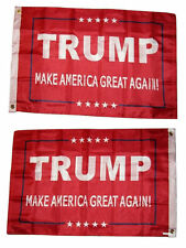2X3 President Trump America Great Red 2 Faced 2-ply Wind Resistant Flag grommets