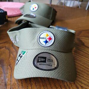 Pittsburgh Steelers New Era Salute to Service Sideline Visor - Olive NWT NFL