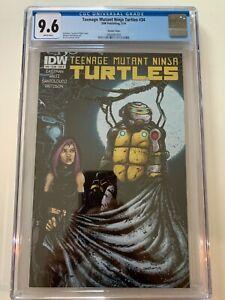Teenage Mutant Ninja Turtles 34, IDW 2014 RARE Kevin Eastman VARIANT 9.6 CGC