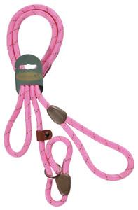 "HI-CRAFT Dog Slip Lead 10mm Nylon Mountain Rope PINK 72"" Medium & Large Dogs"