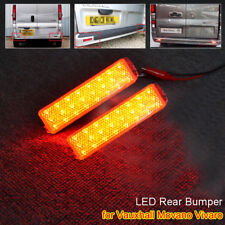 for Vauxhall Movano Vivaro Rear Bumper Reflector LED Fog Turn Signal Brake Light