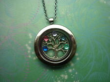 New Charming Floating Charm Locket Necklace -  Tree of Life